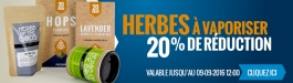 20% Réduction  Herbes à Vaporiser